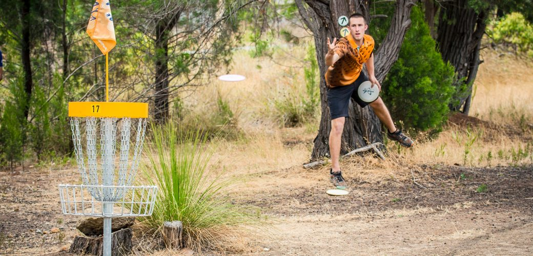 American Disc Golfer Ricky Wysocki at the 2015 Aussie Open