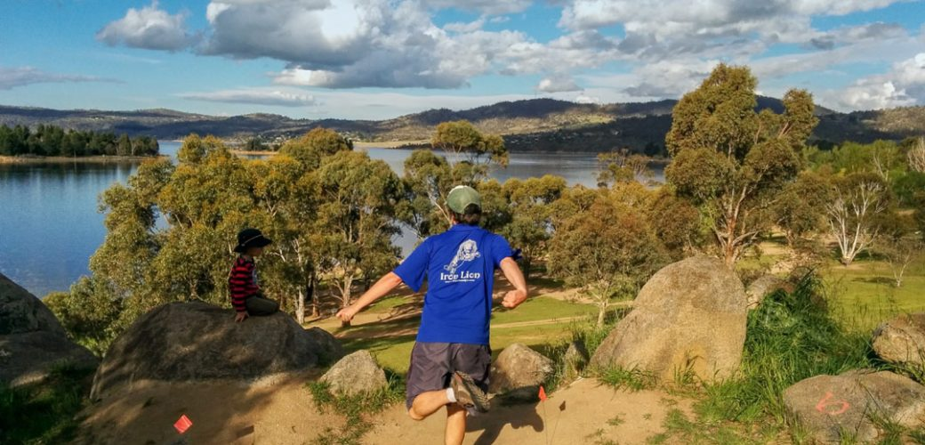 Jonathan Jonas at Jindabyne Disc Golf Course, NSW